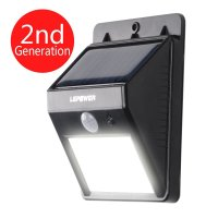LEPOWER Bright LED Wireless Solar Powered Motion Sensor ...