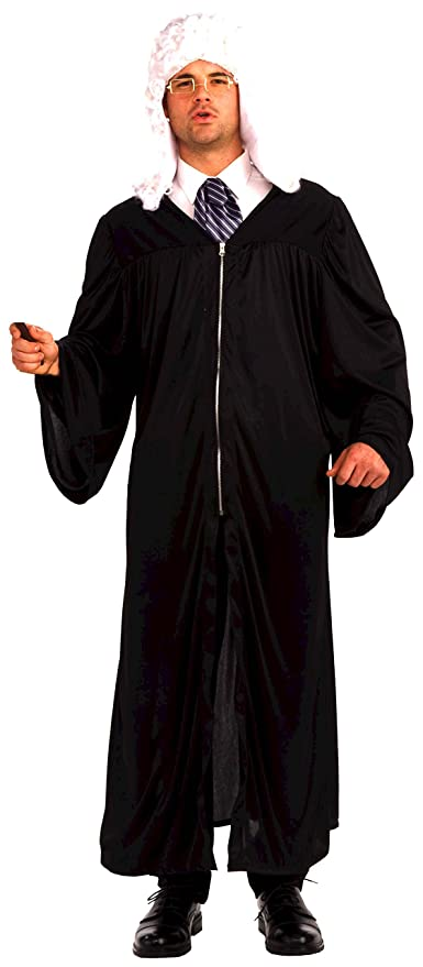 Forum Novelties Men's The Judge Adult Costume, Black, One Size