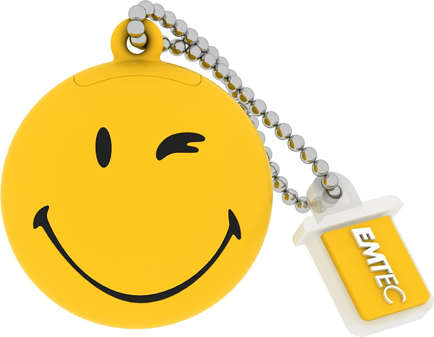 Smiley World 8 GB USB 2.0 Flash Drive, Yellow