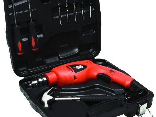 Black & Decker HD5010VK9IN 10mm Drill 500-Watt Drill 9 Accessories and Handtools Drill kit