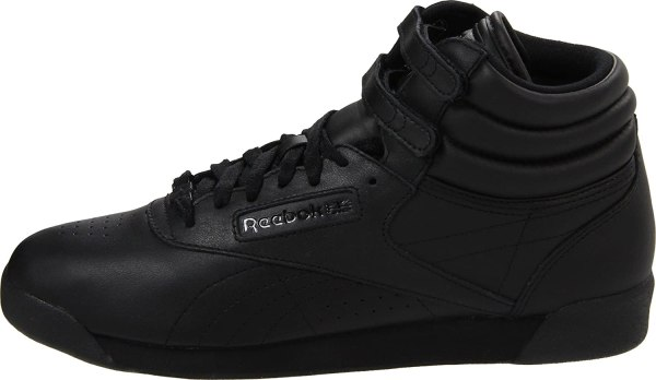 Reebok Women' Classic Freestyle Top Black Shoes