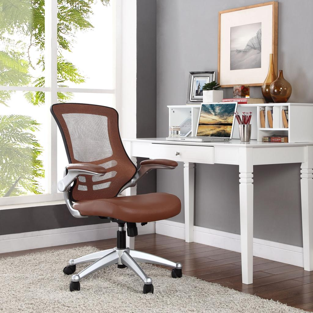 Tan Office Chair Amazon Lexmod Attainment Office Chair With Tan Mesh
