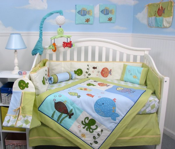 Lambs And Ivy Under Sea Baby Bedding Set