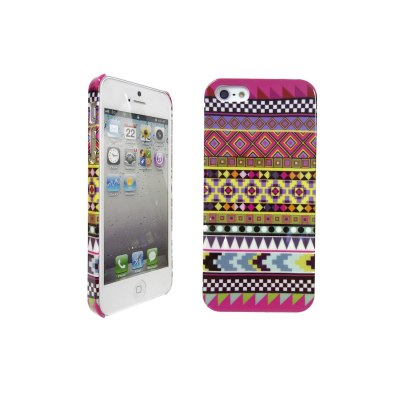 LOVE MY CASE / Apple iPhone 5 Tribal, tribe, retro, vintage, multi-coloured hard case, skin, cover with screen protector & cloth designed exclusively by Love My Case.