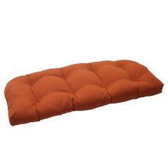 Orange Wicker Chair Cushions Metal Desk Vintage Pillow Perfect Indoor Outdoor Cinnabar Loveseat