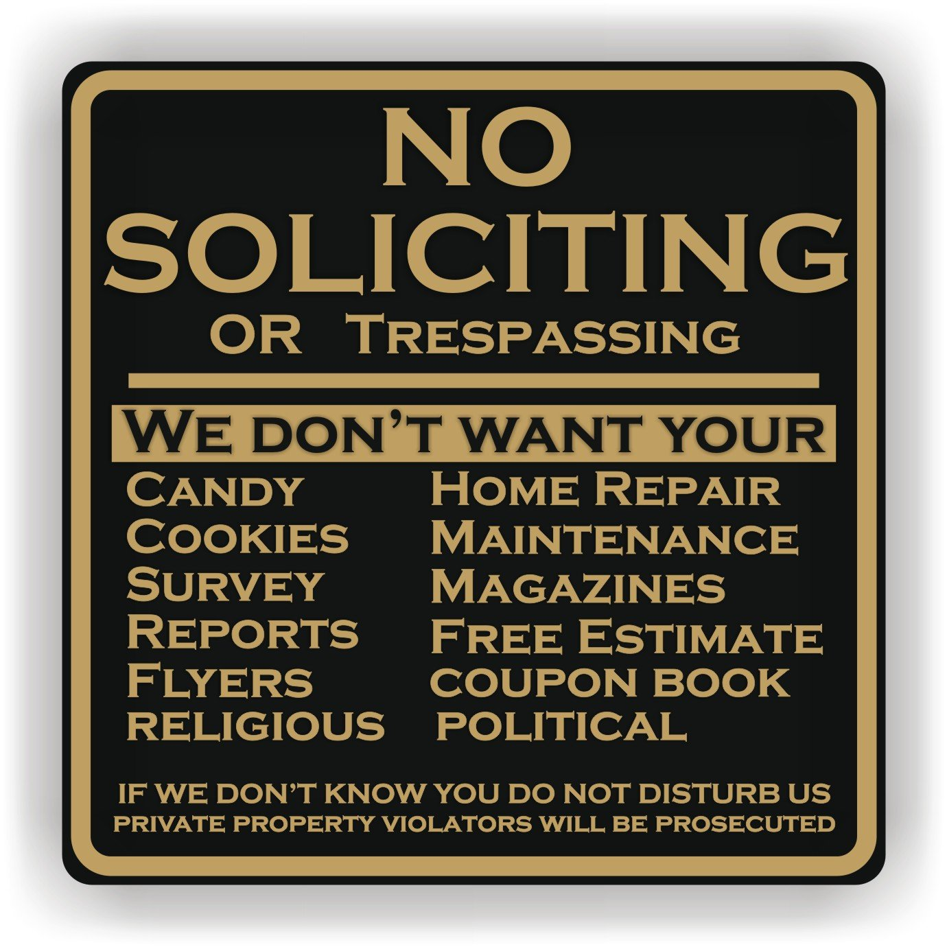 How Effective Are Residential No Soliciting Signs Anandtech Forums Technology Hardware Software And Deals