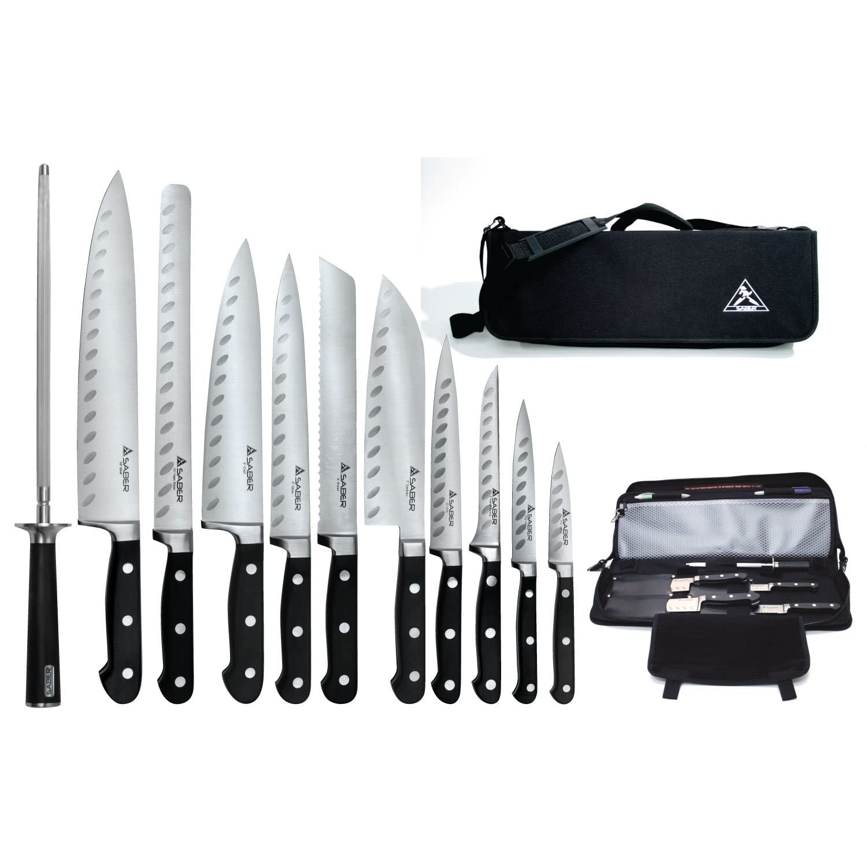 kitchen knives set light covers professional chef knife sets