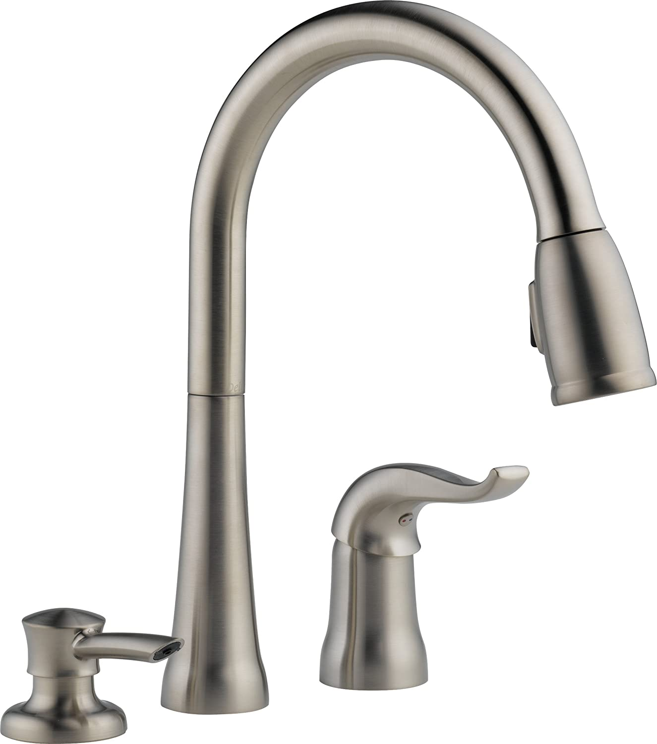 delta faucet kitchen single basin sink pull down with magnetic sprayer dock best