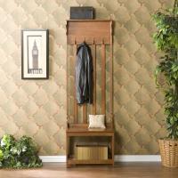 Amazon.com: Mission Oak Hall Tree Entry Bench: Furniture ...