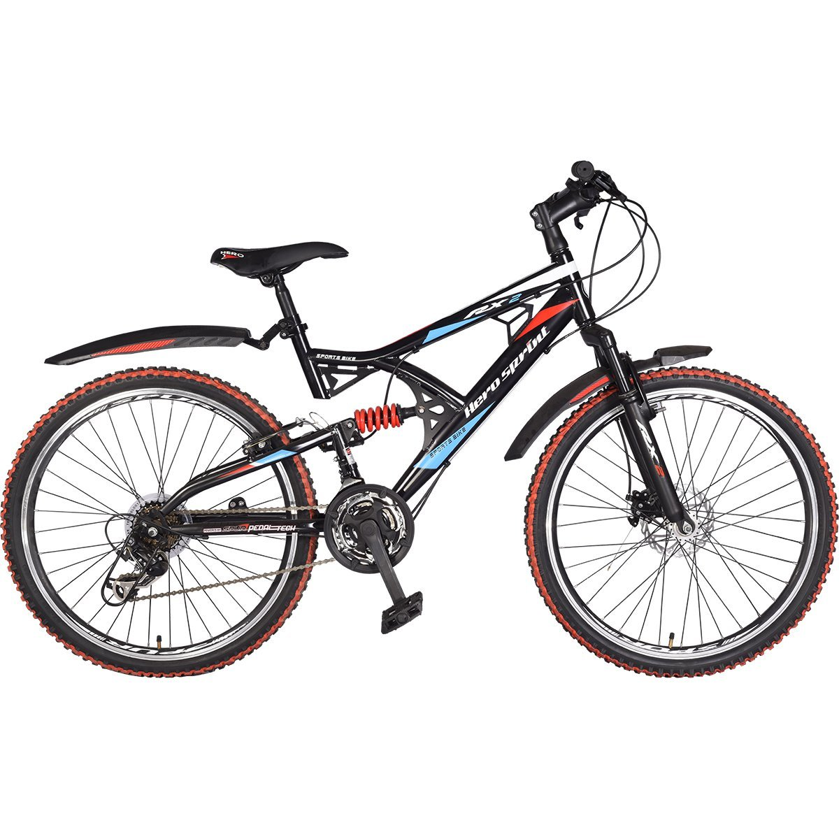 Hero RX2 26T Black & Red 21 Speed Sprint Bicycle with Disc