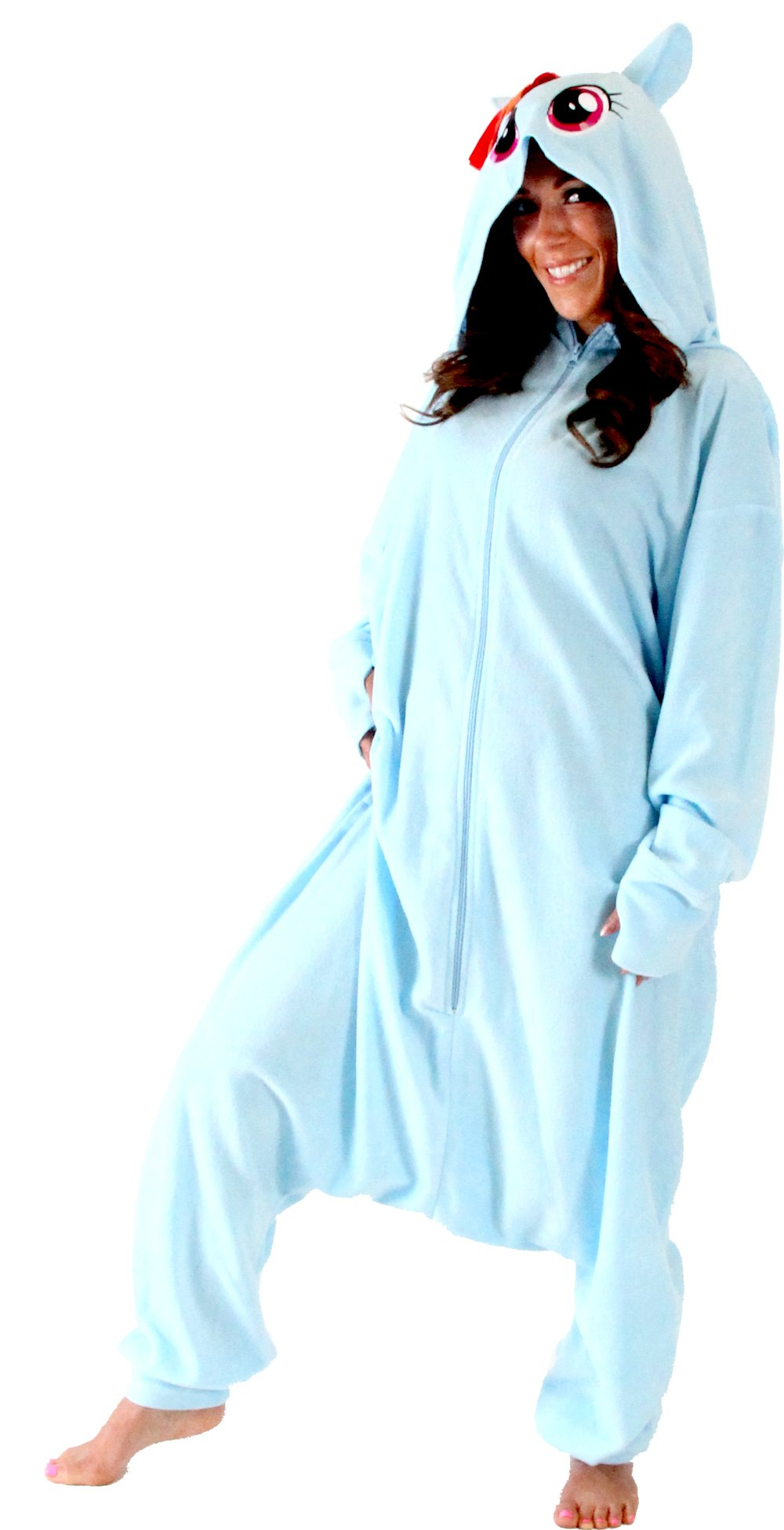 My Little Pony Rainbow Dash Hooded Kigurumi One Piece Pajama Costume