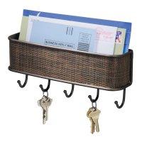 InterDesign Wall Mail Letter Key Holder Hook Rack Hanger ...