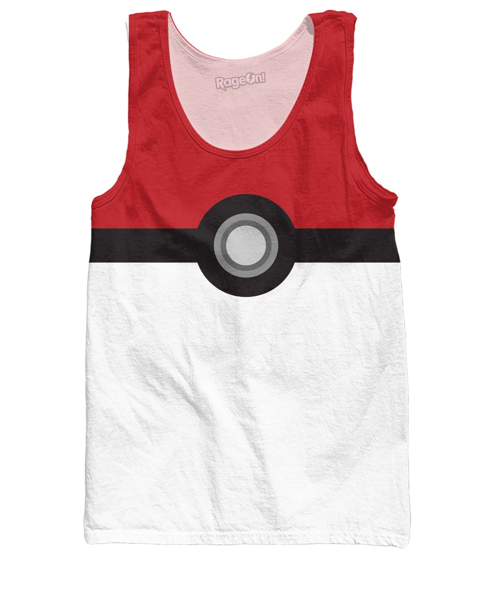 RageOn Men's Pokemon Pokeball Catch Em All Tank Top EDM Party