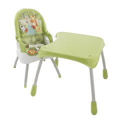 Green High Chair Rent Chairs For Party Fisher Price 4 In 1 Best Home And