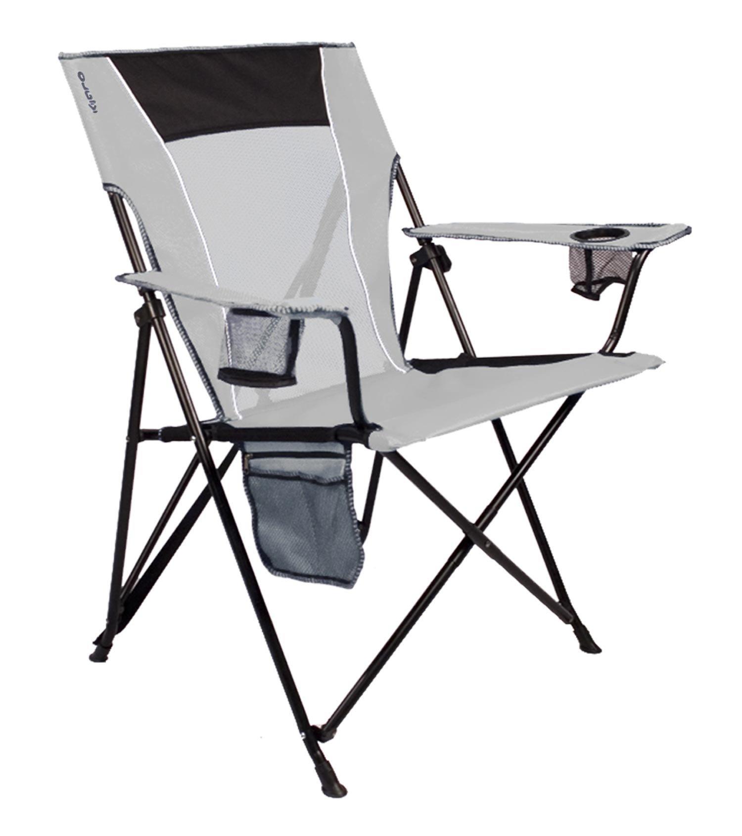 kijaro dual lock folding chair xxl summer deck chairs cupertino classic gray ebay