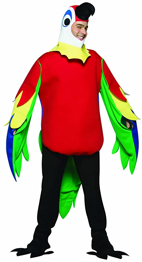 Rasta Imposta Lightweight Parrot Costume, Multi-Colored, One Size
