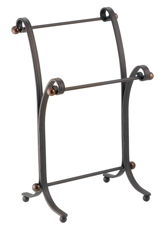 Attractive Free Standing Metal Towel Stand Split Bronze