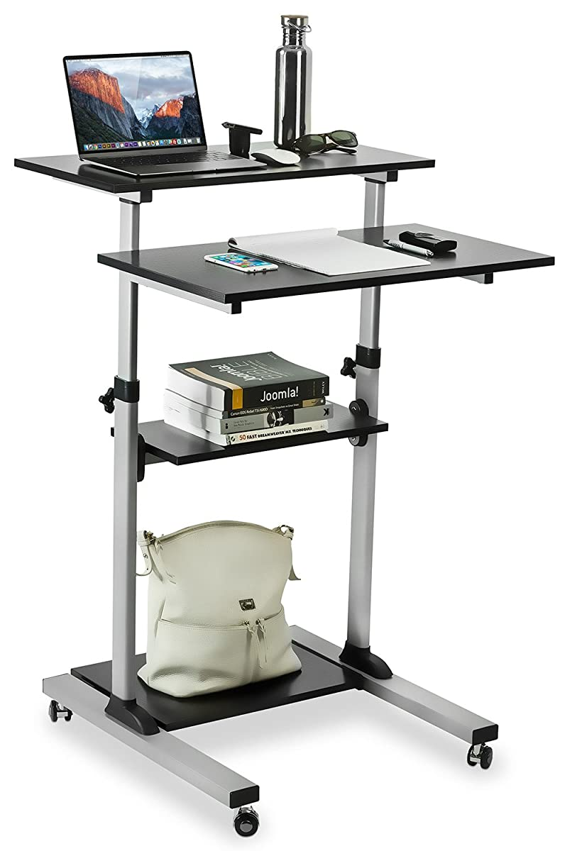 MountIt Mobile Stand Up Desk  Height Adjustable