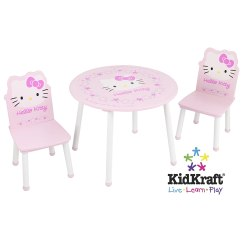 Hello Kitty Desk Chair Padded Metal Folding Chairs Table And Kidkraft Ebay