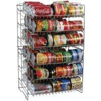 Canned Food Storage Rack Organizer Space Saving Cans Shelf