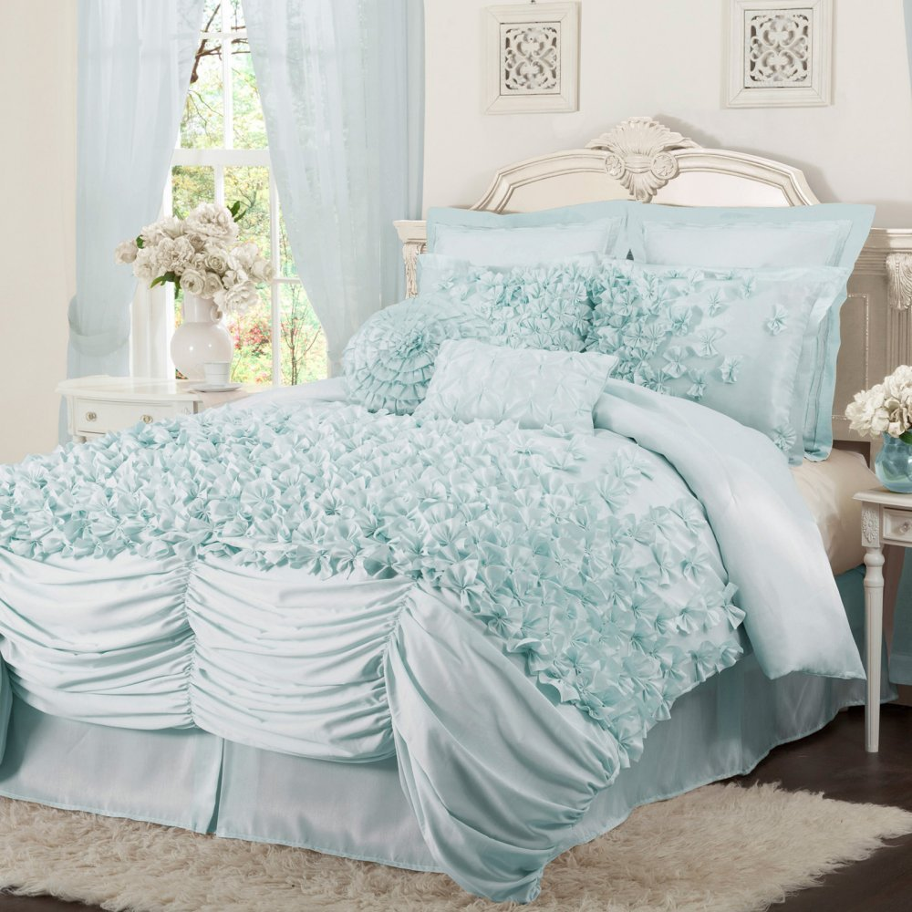 Ruffled Bedding is Frilly and Feminine