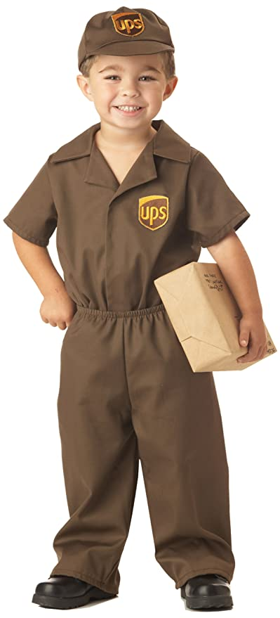 UPS Guy Boy's Costume, Large (4-6), One Color