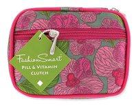 Fashion Smart Pill and Vitamin Compact Travel Clutch Case (Fleur De Fash)