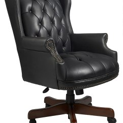 Cheap Leather Wingback Chairs Ikea Kitchen Table And Set Boss Traditional Chair Black Desk Huge