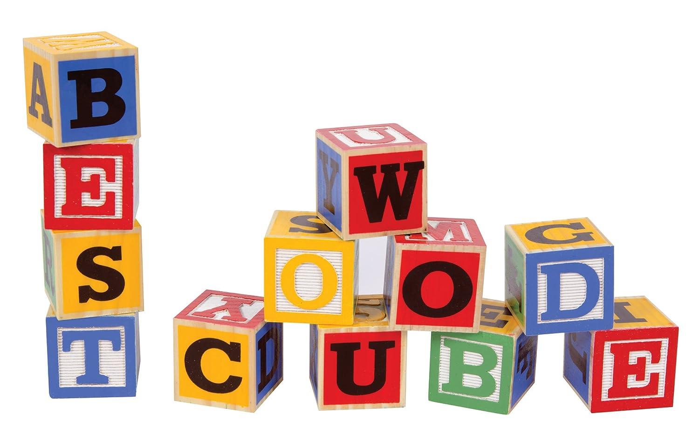 Schylling Large Abc Alphabet Blocks Toy New Free