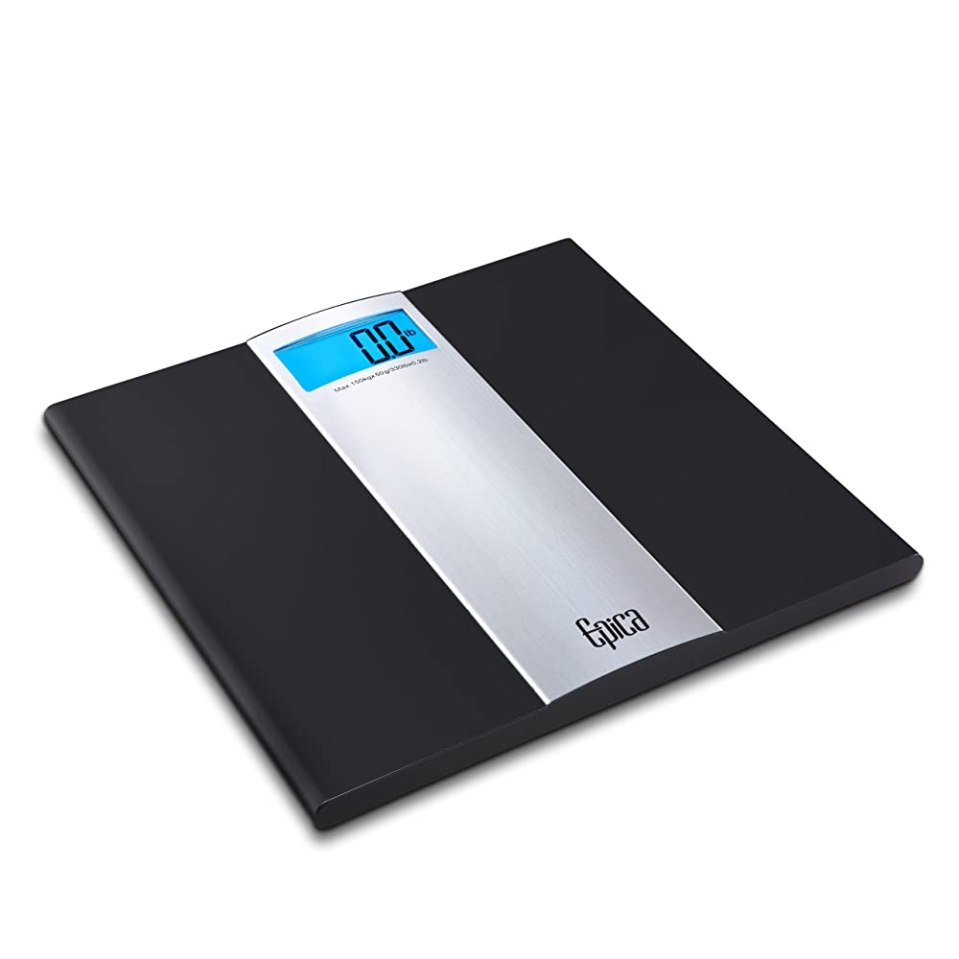 Omega Ultra Slim Digital Bathroom Scale, 400 lb. Capacity, Sense-On Technology