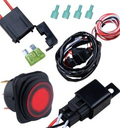 nilight off road atv jeep led light bar wiring harness kit 40 amp relay on off switch [ 1001 x 1001 Pixel ]