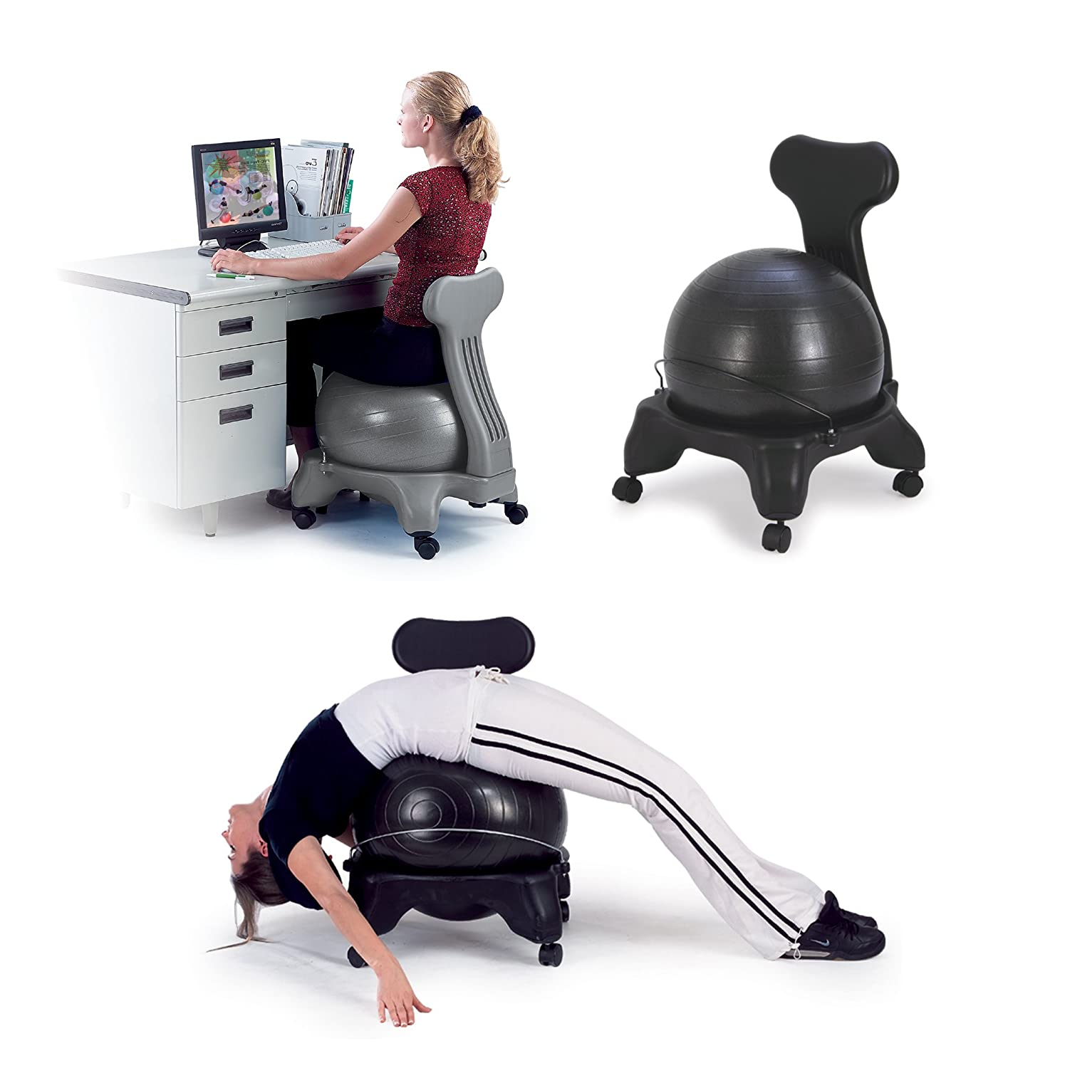 Balance Fit Chair Ball Pump Sivan Health Fitness Ease into