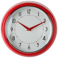 Lily's Home Retro Kitchen Wall Clock, Large Dial Quartz ...