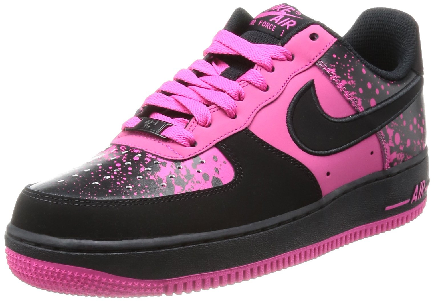 Nike Air Force 1 Mens Basketball Shoes Color: Black/ Vivid Pink