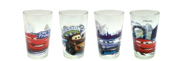 Disney Cars Juice Glass 8-ounce Set Of 4
