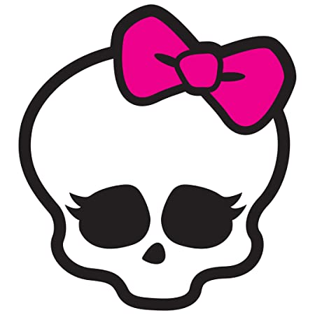 Monster High Skullette Removable Wall Sticker with 2 free mini skullettes