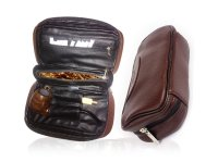 Ylyycc leather pipe tobacco pouch case with 2 pipe holder ...