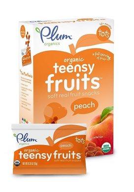 Plum Organics Tots Teensy Fruits, Peach, 1.75 Ounce