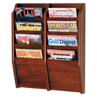 Wall Mounted Magazine Rack Shelf Organizer Wood Display ...