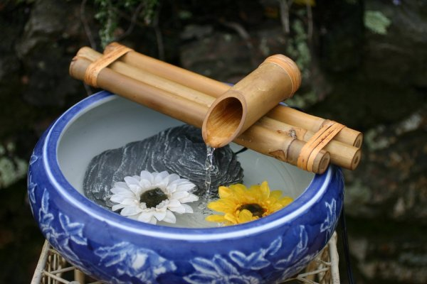Decorative Garden Bamboo Water Spout Pump Fountain Kit 12