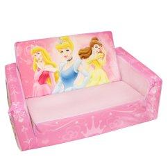 Fun Furniture Flip Open Sofa Disney Princess Pink Article 1 Kids Cars Mcqueen Out