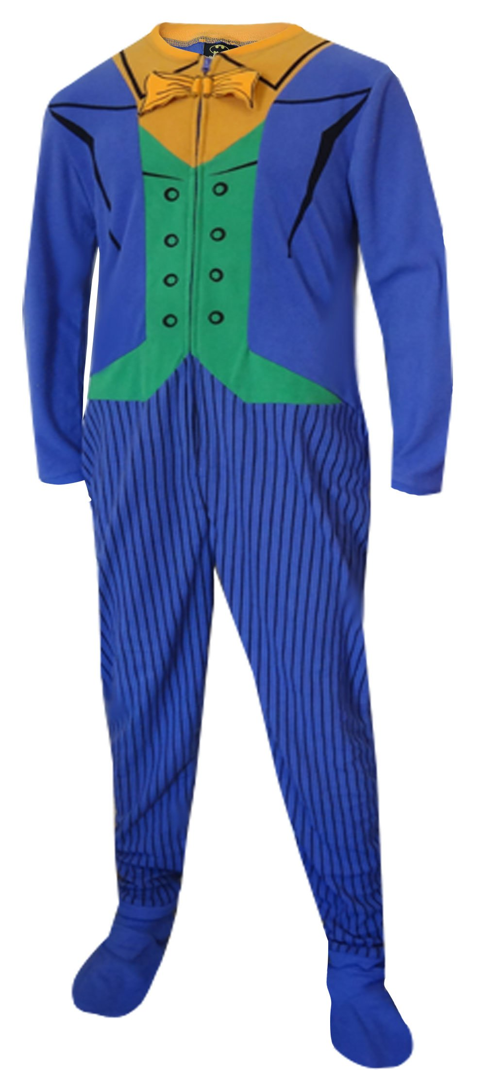Batman's The Joker Fleece Onesie Footie Pajama for men
