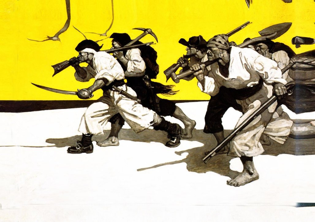 N.C. Wyeth's illustration of pirates for
