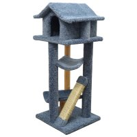 Cool Cat Tree Plans: Cat Trees... Carpet Covered Works Of Art?