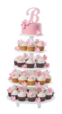 Cake Stand Wedding Tier Cupcake 6 Plate Sizes Center Posts ...
