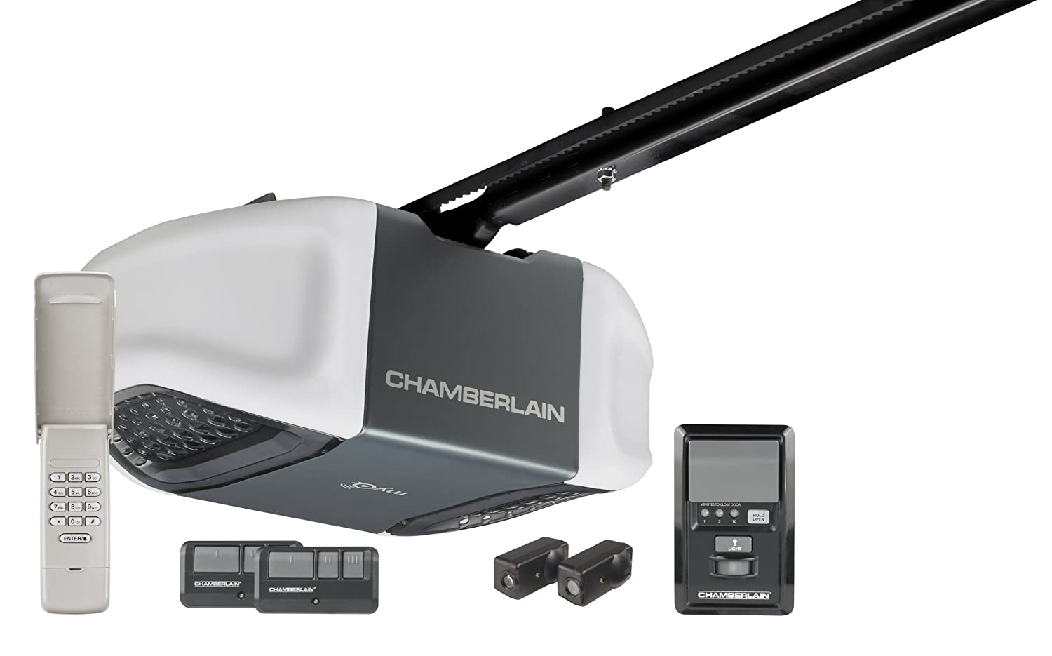Chamberlain WD832KEV Ultra Quiet and Strong 1/2 HP Belt Drive Garage Door Opener