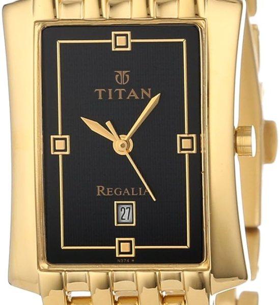 Titan Regalia Analog Black Dial Men's Watch - NE1927YM06