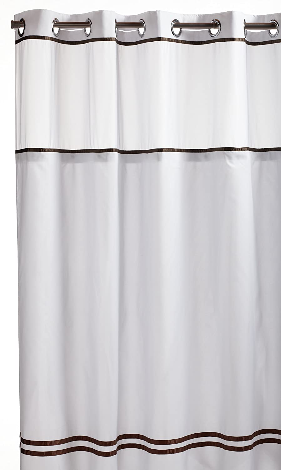Hookless Shower Curtain Liners Mystery Snap In Peva Liner