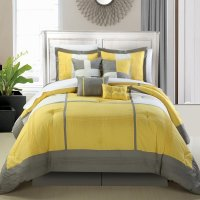 Yellow and Grey Bedding  fel7.com