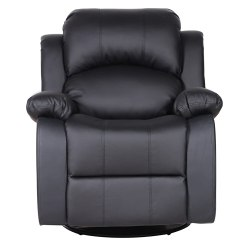 Swivel Chair Amazon Embody Review Bonded Leather Rocker And Recliner Living Room